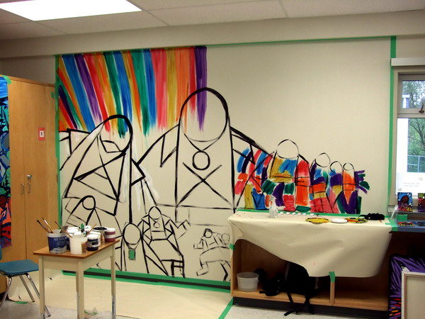 Another classroom mural first nations fine art paintings for Classroom wall mural ideas