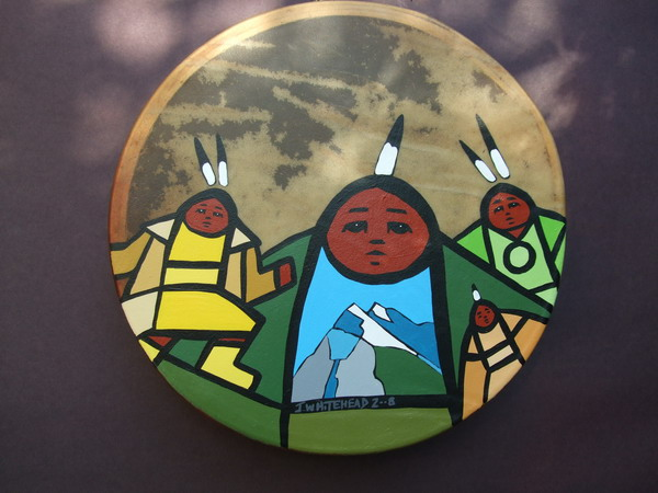 jerry whitehead native drums painting