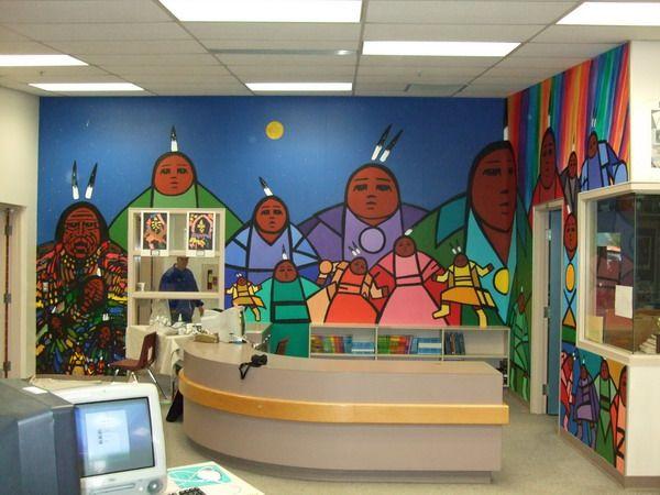 Blue jay elementary mural first nations fine art for Elementary school mural