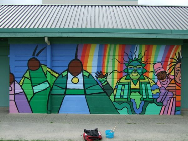 West langley elementary school mural first nations fine for Elementary school mural